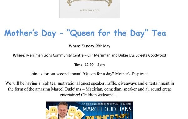 Mother's Day – Queen for the Day Tea