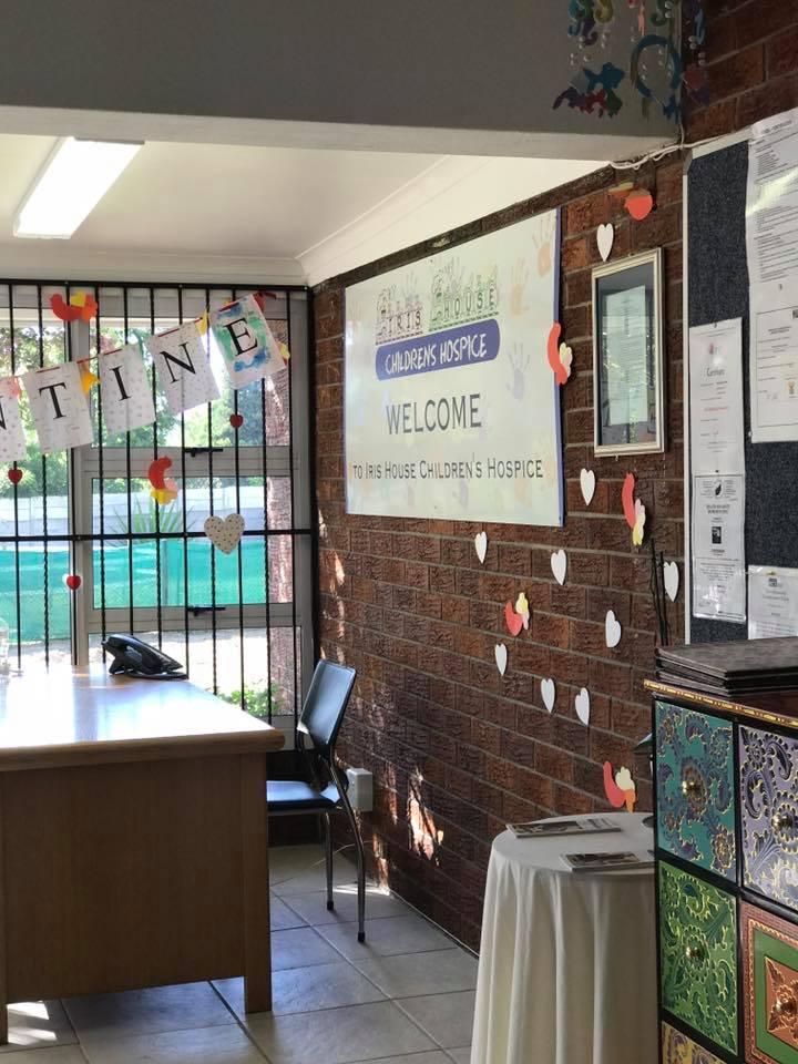 Reception area volunteer