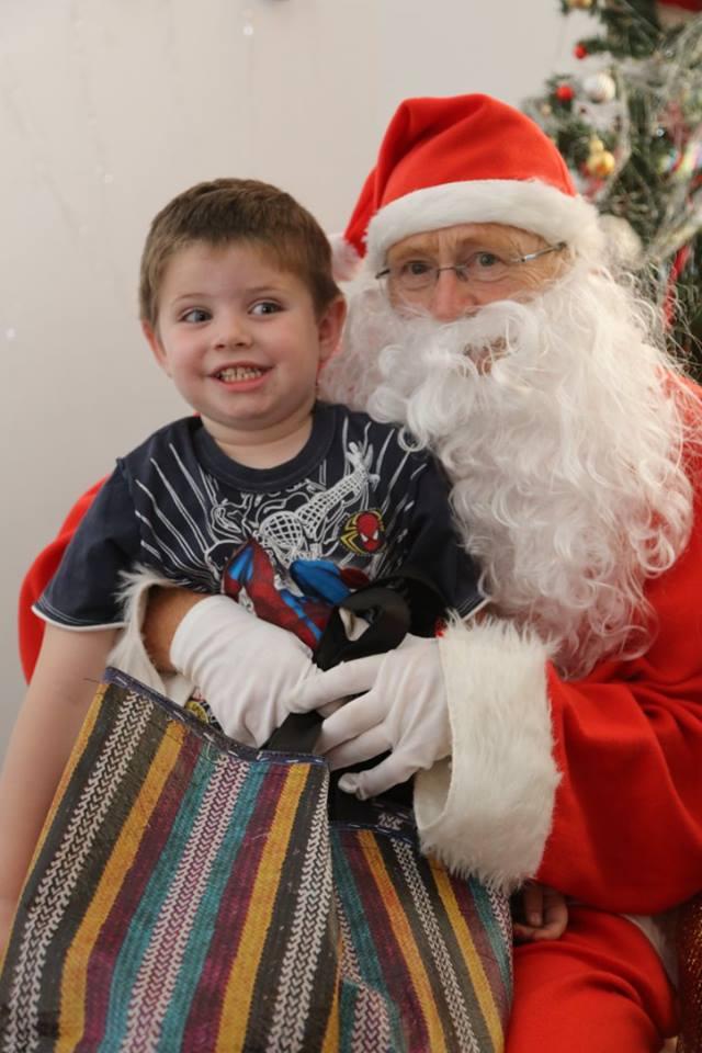 Mathew and Santa